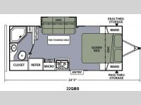 Floorplan - 2015 Coachmen RV Apex Ultra-Lite 22QBS
