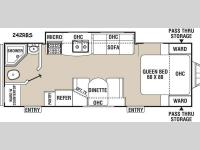Floorplan - 2015 Coachmen RV Freedom Express 242RBS