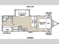 Floorplan - 2015 Coachmen RV Freedom Express 248RBS
