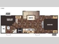 Floorplan - 2015 Forest River RV Cherokee Grey Wolf 23DBH