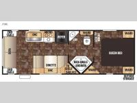Floorplan - 2015 Forest River RV Cherokee Grey Wolf 25RL