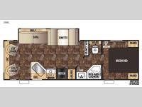 Floorplan - 2015 Forest River RV Cherokee Grey Wolf 26RL