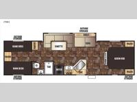 Floorplan - 2015 Forest River RV Cherokee Grey Wolf 29BH