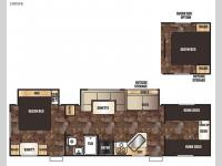 Floorplan - 2015 Forest River RV Cherokee Grey Wolf 29DSFB
