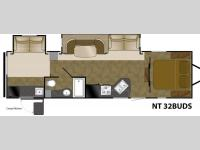 Floorplan - 2015 Heartland North Trail 32BUDS King