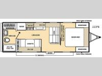 Floorplan - 2015 Coachmen RV Catalina 223FB