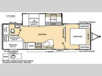 Floorplan - 2015 Coachmen RV Catalina 273DBS