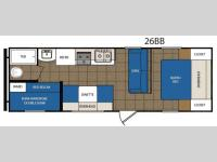 Floorplan - 2015 Prime Time Manufacturing Avenger 26BB