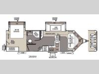 Floorplan - 2015 Forest River RV Rockwood Wind Jammer 2809W