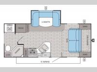 Floorplan - 2015 Jayco White Hawk 20MRB