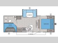 Floorplan - 2015 Jayco White Hawk 25BHS