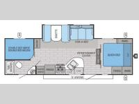 Floorplan - 2015 Jayco White Hawk 28DSBH