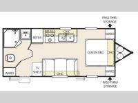 Floorplan - 2015 Forest River RV Salem Cruise Lite 221RBXL
