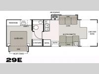 Floorplan - 2006 Four Winds RV Chateau 29E