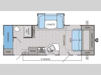 Floorplan - 2015 Jayco Jay Flight 23MBH