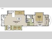 Floorplan - 2015 Forest River RV Cedar Creek Silverback 31RK