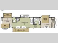 Floorplan - 2015 Forest River RV Cedar Creek Silverback 37BH