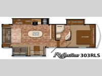 Floorplan - 2015 Grand Design Reflection 303RLS