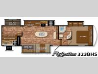 Floorplan - 2015 Grand Design Reflection 323BHS