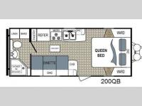 Floorplan - 2015 Dutchmen RV Kodiak 200QB Ultimate