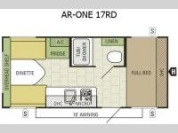 Floorplan - 2015 Starcraft AR-ONE 17RD