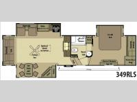 Floorplan - 2015 Open Range RV 349RLS