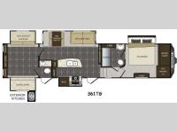 Floorplan - 2015 Keystone RV Avalanche 361TG