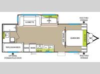 Floorplan - 2015 Forest River RV Salem 26TBUD
