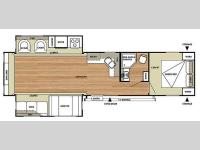 Floorplan - 2015 Forest River RV Salem 37REDS