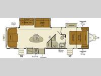 Floorplan - 2015 EverGreen RV Ever-Lite 291RLS