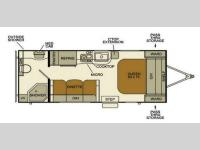 Floorplan - 2015 EverGreen RV Ascend A191RB