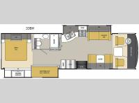 Floorplan - 2015 Coachmen RV Pursuit 33 BH