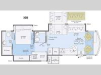 Floorplan - 2015 Winnebago Vista 35B