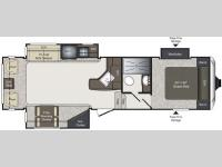 Floorplan - 2015 Keystone RV Laredo Super Lite 295SCK