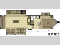 Floorplan - 2015 Open Range RV Light LF319RLS