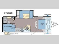 Floorplan - 2015 Dutchmen RV Coleman Expedition CTS244BH