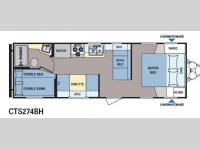 Floorplan - 2015 Dutchmen RV Coleman Expedition CTS274BH