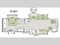 Floorplan - 2015 Tiffin Motorhomes Allegro RED 36 QSA