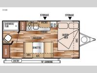 Floorplan - 2015 Forest River RV Wildwood X-Lite FS 185RB