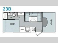 Floorplan - 2015 Holiday Rambler Augusta 23B
