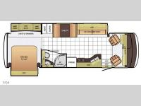 Floorplan - 2015 Newmar Bay Star 3124