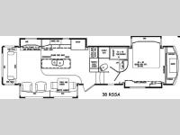 Floorplan - 2015 DRV Luxury Suites Mobile Suites 38 RSSA