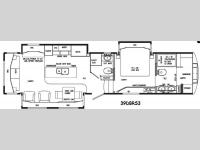 Floorplan - 2015 DRV Luxury Suites Mobile Suites 39 DBRS3