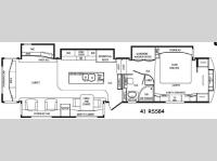 Floorplan - 2015 DRV Luxury Suites Mobile Suites 41 RSSB4