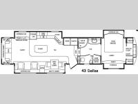 Floorplan - 2015 DRV Luxury Suites Mobile Suites 43 Dallas