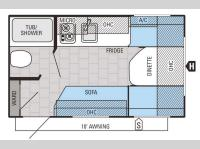 Floorplan - 2015 Jayco Jay Flight SLX 145RB