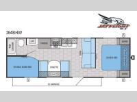 Floorplan - 2015 Jayco Jay Flight SLX 264BHW