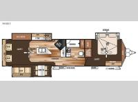 Floorplan - 2015 Forest River RV Salem Villa Series 393RLT Estate