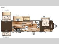 Floorplan - 2015 Forest River RV Salem Villa Series 402QBQ Classic
