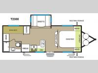 Floorplan - 2015 Forest River RV EVO T2300